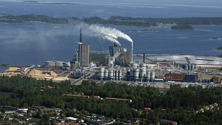 Billerudkorsnäs fabrik i Gävle. Foto: Billerudkorsnäs