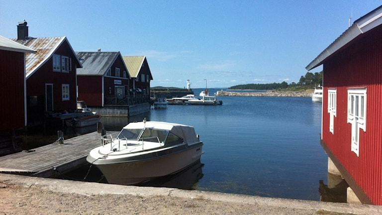 Idyll i Hölicks fiskehamn. Foto: Linnea Johansson/Sveriges Radio Gävleborg