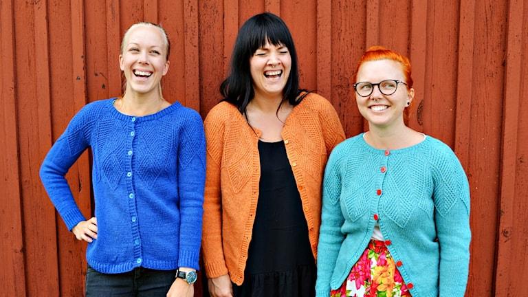 Madelene Linderstam, Lina Emnehult och Josefine Hedlund.