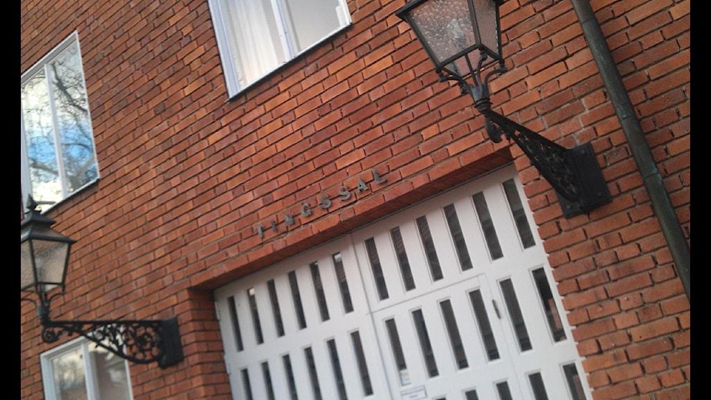 Rättegången fortsätter i Söderhamns tingssal. Foto: Agneta Sundberg/Sveriges Radio
