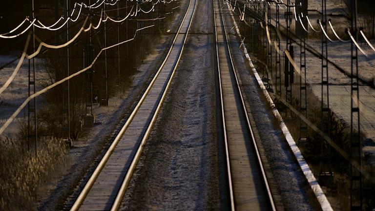 Ett dubbelspår mellan Gävle och Sundsvall skulle förkorta restiden på sträckan. Foto: Fredrik Sandberg/TT.