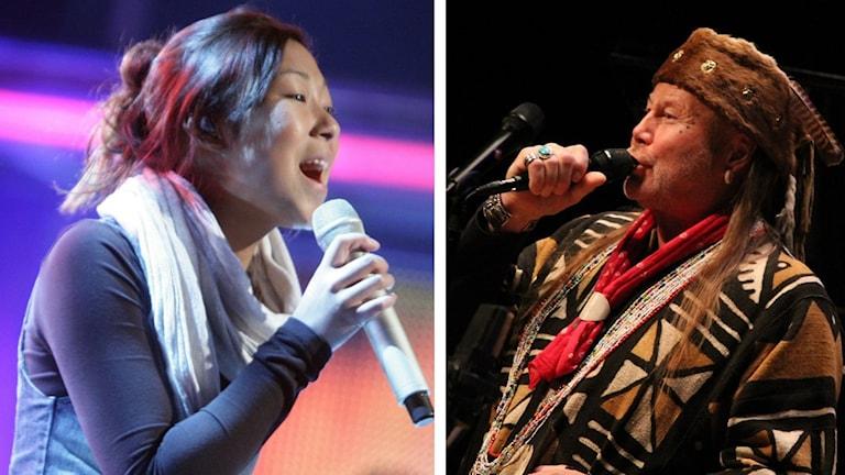 Alice Svensson och Roger Pontare i årets Melodifestival.