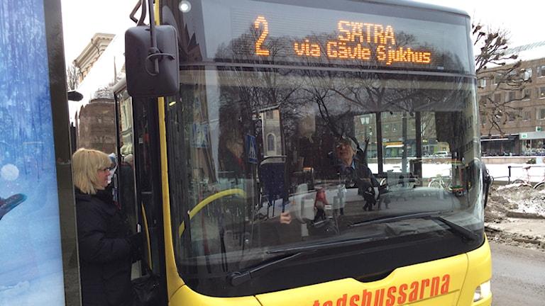 Buss. Foto: Linnea Johansson/SR Gävleborg.