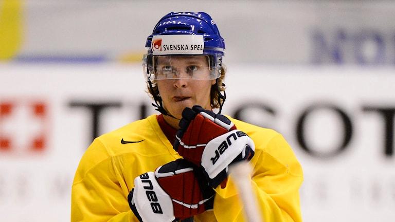 Nicklas Bäckström under träning med Tre Kronor. Arkivfoto: Claudio Bresciani / TT