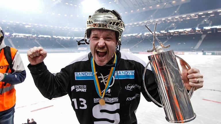 Magnus Muhrén jublar. Foto: TT