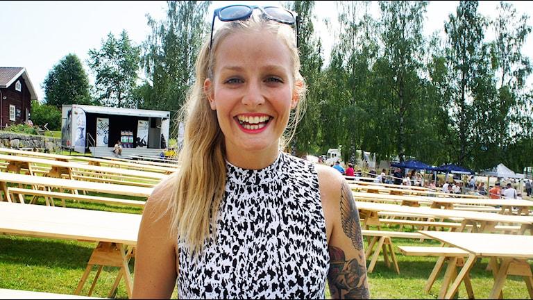 Clara Sagström. Foto: Linn Fogelberg/Sveriges Radio