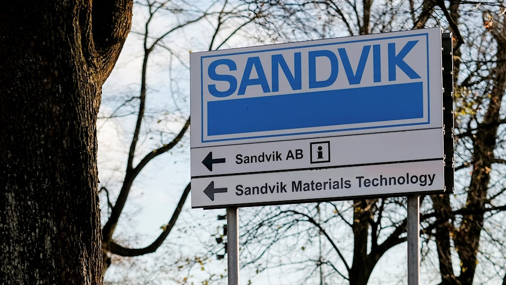 Sandvik-skylt.