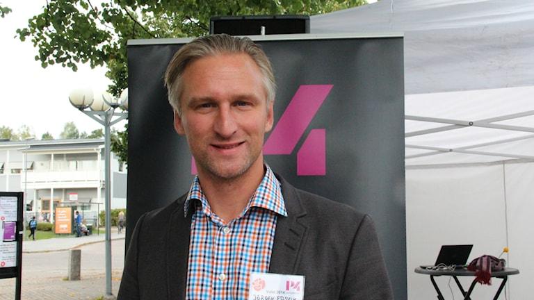 Jörgen Edsvik (S) debatterar i Gävle. Foto: Maria Zander/Sveriges Radio