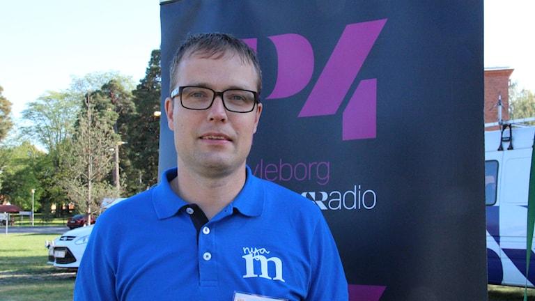 Moderaternas länsordförande Patrik Stenvard.