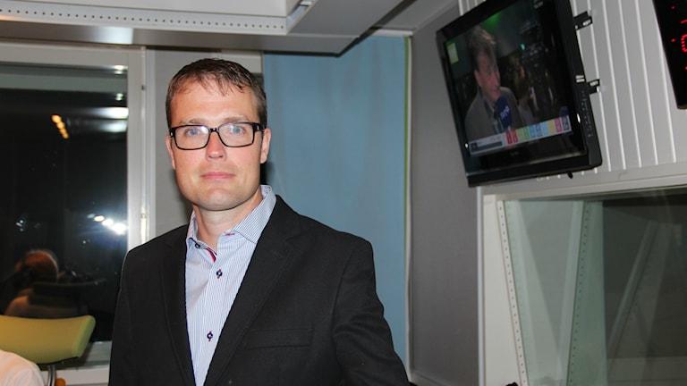 Patrik Stenvard, ordförande för Moderaterna i Gävleborg. Foto: Maria Zander/Sveriges Radio