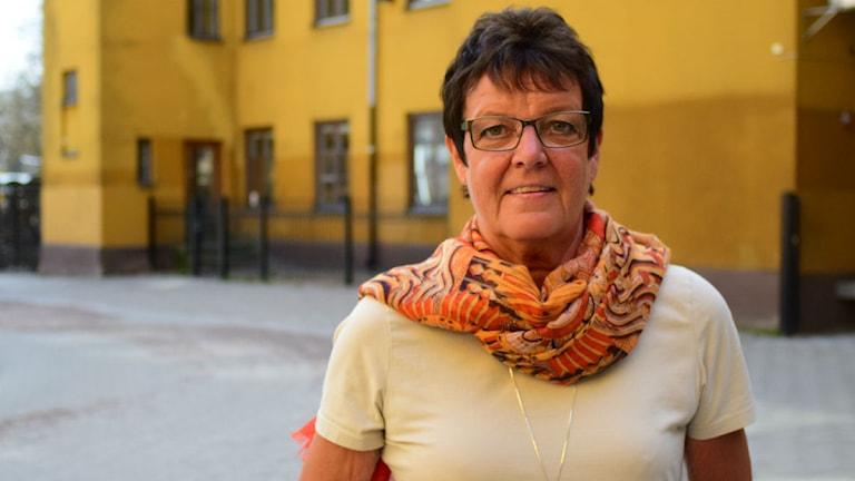 Inger Källgren Sawela (M), kommunstyrelsens ordförande.