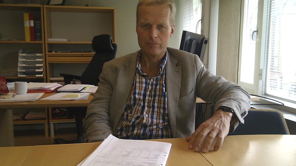 Henrik Forssblad, chef för polisens miljörotel i Gävleborg. Foto: Joacim Lindwall/Sveriges Radio
