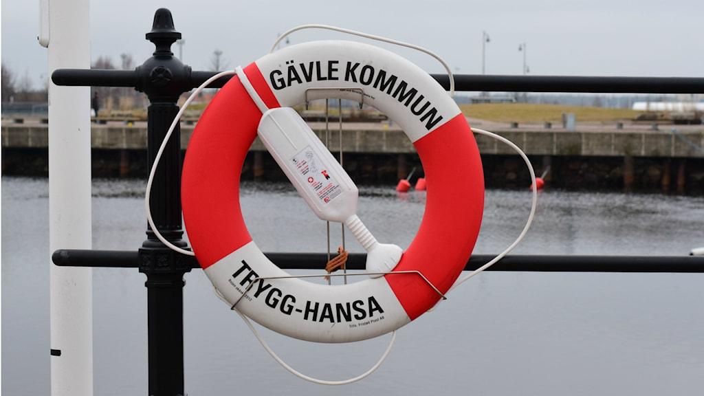 Livboj Gävle kommun. Foto: Anna-Karin Lampou/Sveriges Radio