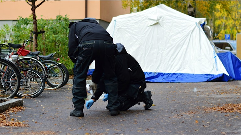 Östermordet polisutredning mord tekniker teknisk undersökning brottsplats