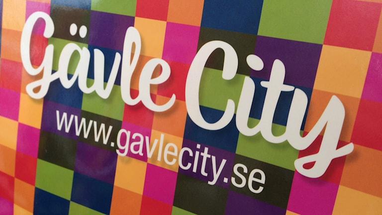 Gävle centrumsamverkans nya logotyp. Foto: Staffan Mälstam/Sveriges Radio