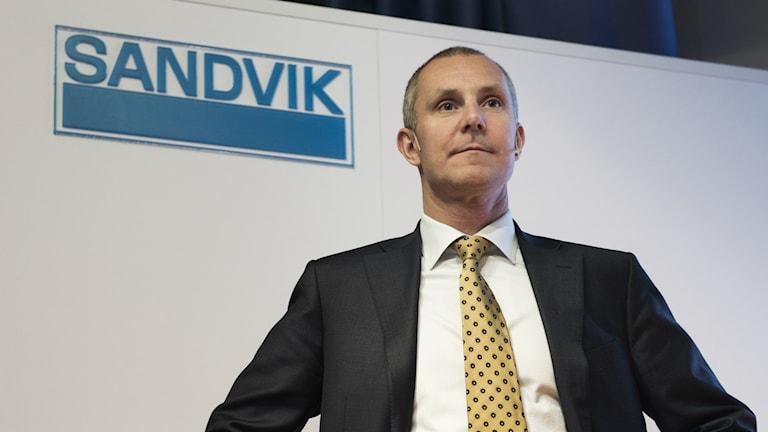 50 arbetstillfällen försvinner hos SMT, Sandvik. Sandviks VD Olof Faxander. Foto: TT/Sveriges Radio