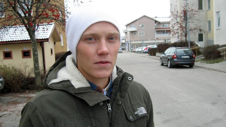 Oscar Thorén, före detta narkotikapolis i Hälsingland tror inte att det finns någon narkotikapolis kvar i området. Foto: Tomas Groop/Sveriges Radio