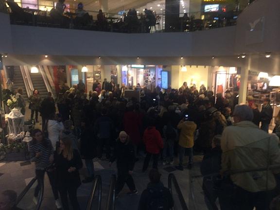 Lyxfällans loppis drog mycket folk på Gallerian nian i Gävle. Foto: Wenda Hajo/Sveriges Radio
