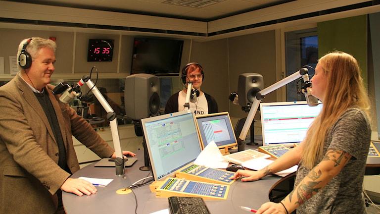 Anders W Jonsson debatterar droger. Foto: Fredrik Björkman/Sveriges Radio