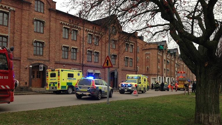 Trafikolycka på skeppsbron. Foto: Staffan Mälstam/Sveriges Radio