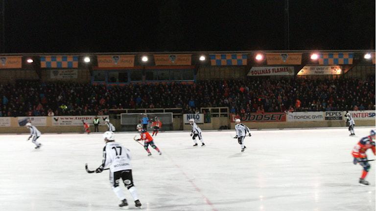 Sandviken bärgade hem poängen i matchen mot Bollnäs, som slutade 3-6. Foto: Johan Essén Trygg/Sveriges Radio