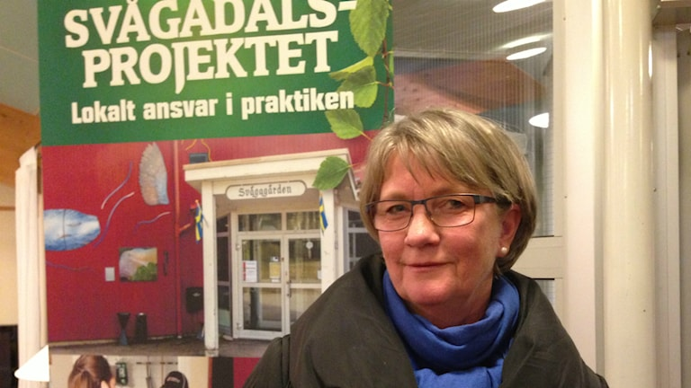 Elvira Persson röstar alltid i Svågadalsvalet. Foto: Hasse Persson/Sveriges Radio