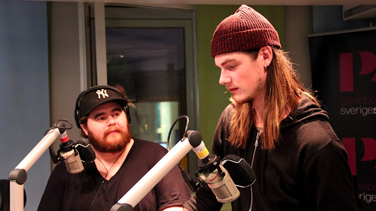 John Östblom och Petter Hedström gästade studion i morse. Foto: Martin Svensson / Sveriges Radio