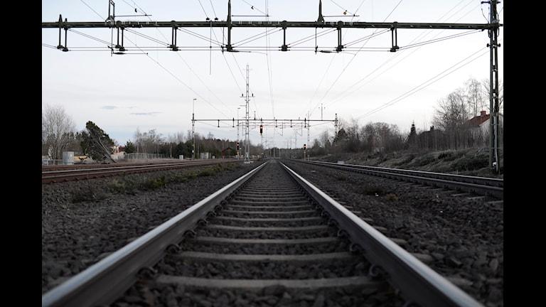 Järnväg. Foto: Mikael Fritzon/Scanpix
