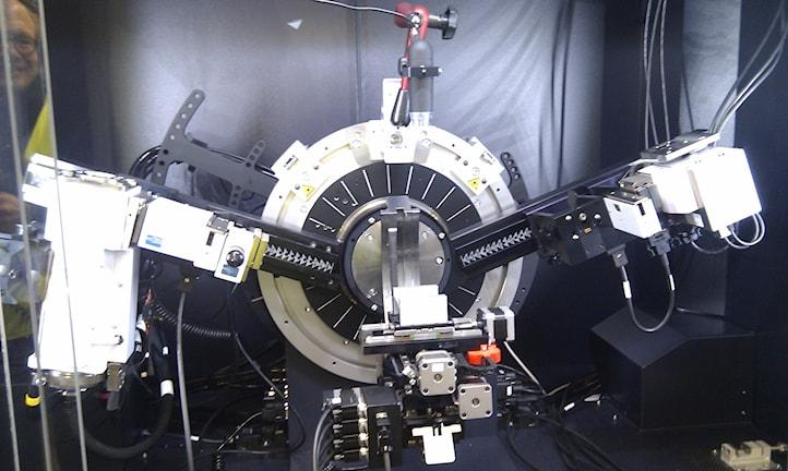 Röntgendiffraktometer som kan böja röntgenstrålar.