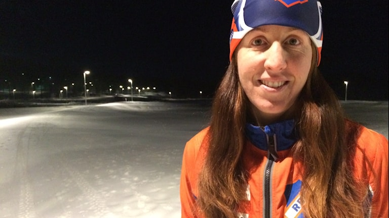 Ingela Rydesäter tävlingsledare för Bollnässkidan. Foto: Agneta Sundberg/Sveriges Radio