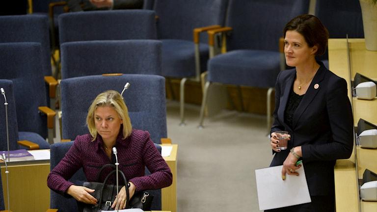 I dag hålls budgetdebatten i riskdagen som avgör regeringens vara eller icke vara. Foto: TT/Sveriges Radio