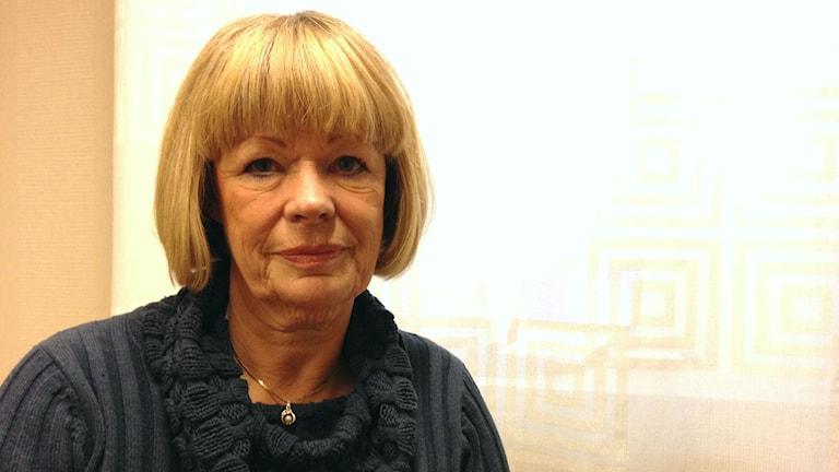 Marianne Qvarnström, rektor på Björktjära skola. Foto: Julia Burman Görans/Sveriges Radio