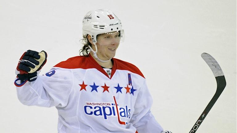 Nicklas Bäckström stod för två assist i nattens match mellan Washington och Tampa Bay. Foto: TT