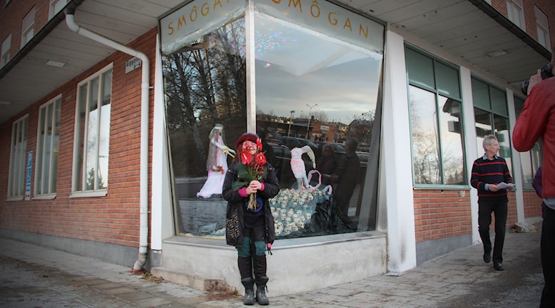 Smôgan, dialektalt för smygen, heter den nya utställningsplatsen i Bollnäs. Foto: Magnus Hansson/Sveriges Radio