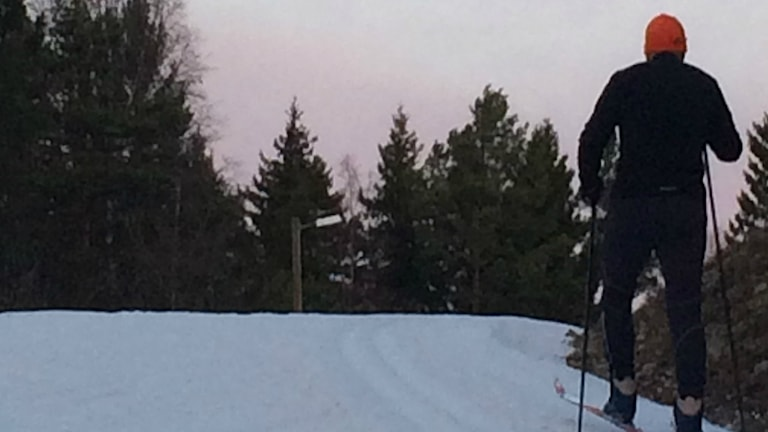 Morgonpigg skidåkare