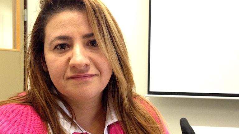 Fadwa Al Olayan hade svårt att hitta bostad i Sverige efter att hon fått uppehållstillstånd. Foto: Julia Burman Görans/Sveriges Radio