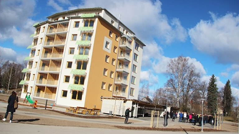 Trots att det byggs mycket nytt i Bollnäs höjer inte Bollnäs Bostäder hyran. Foto: Magnus Hansson/Sveriges Radio.