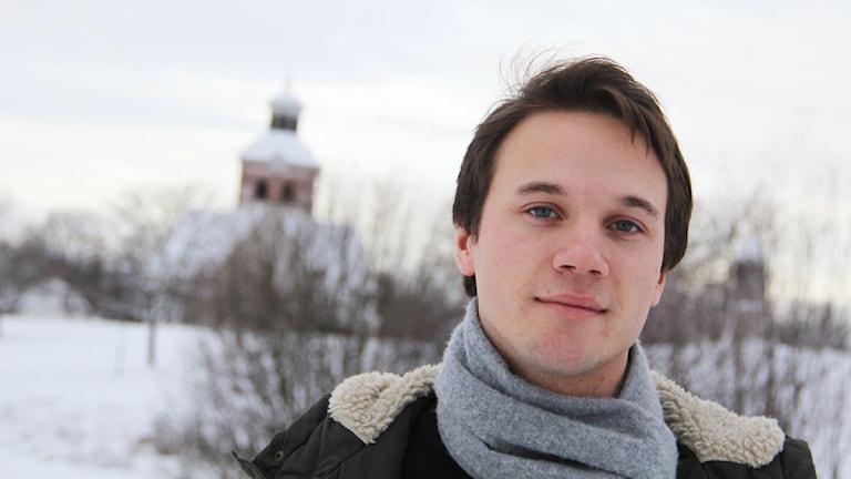 Johan Bodell från Kilafors jobbade som produktionskoordinator under inspelningen av Wallander. Foto: Magnus Hansson/Sveriges Radio
