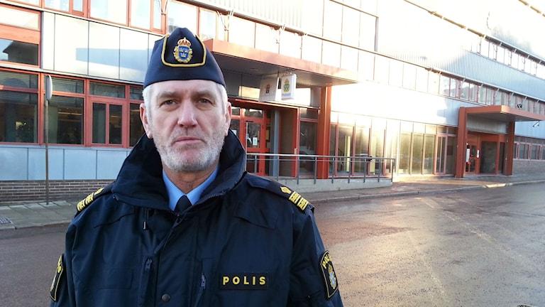 Mikael Hedström, presstalesman vid Gävleborgspolisen. Foto: Harald Hans-Ers/Sveriges Radio