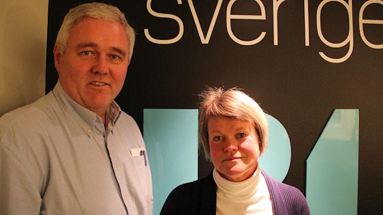 Anders W Jonsson (c) och Ulla Andersson (v) Foto: Fredrik Björkman/Sveriges Radio