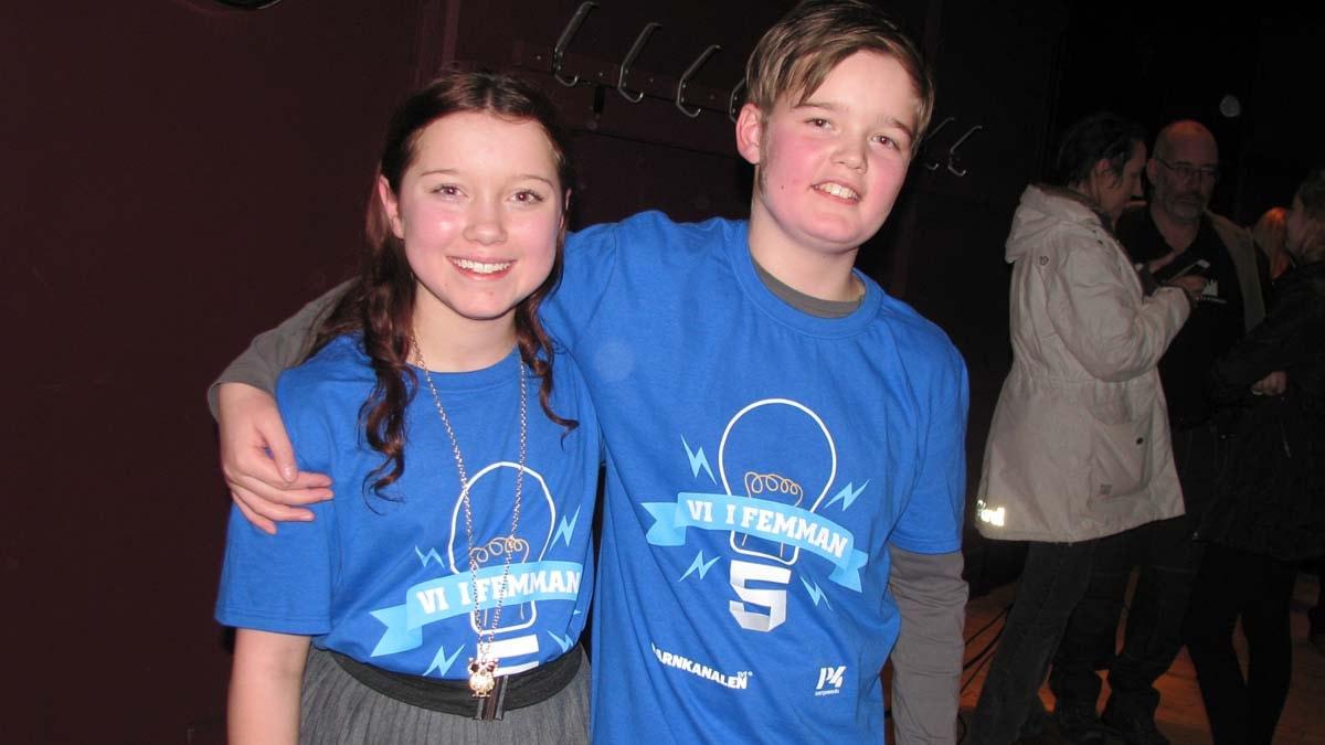 Amanda Aspenfelt och Simon Berggren Björk tog hem segern i den andra kvarsfinalen för Sörängs skola från  Bollnäs. Foto: Ingegerd Engvall/Sveriges Radio
