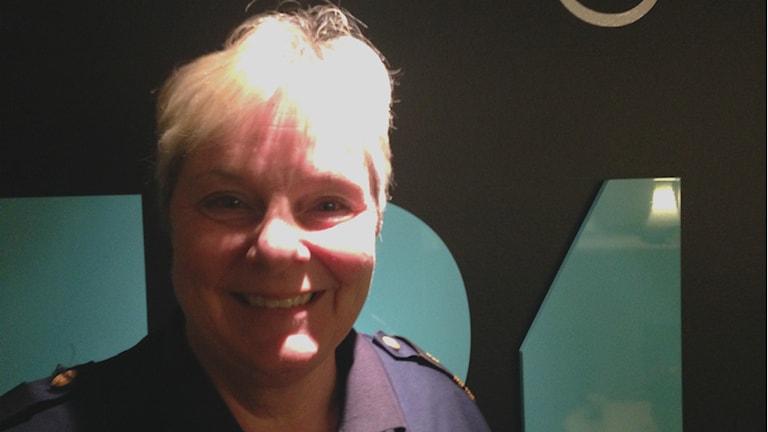 Gudrun Unogård från Bollnäs började på polishögskolan 1974. Idag arbetar hon i Gävle. Foto: Fredrik Björkman/Sveriges Radio