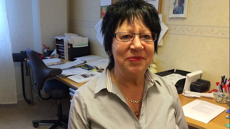 Idag är Christina Hildingsson, ordförande Kommunal i Bollnäs både lättad och glad. Foto: Agneta Sundberg/Sveriges Radio