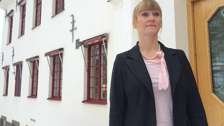 Åklagare Therese Stensson vill att 49-åringen döms för grovt barnpornografibrott till fängelse i sex månader. Agneta Sundberg/Sveriges Radio