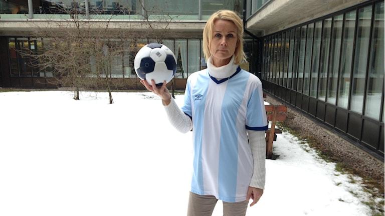 Gefle IF:s klubbdirektör Eva von Scheele-Frid. Foto: Gabriel Henning/Sveriges Radio