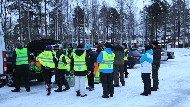 Missing People förbereder sig inför sökningen av den försvunna kvinnan i Sandviken.