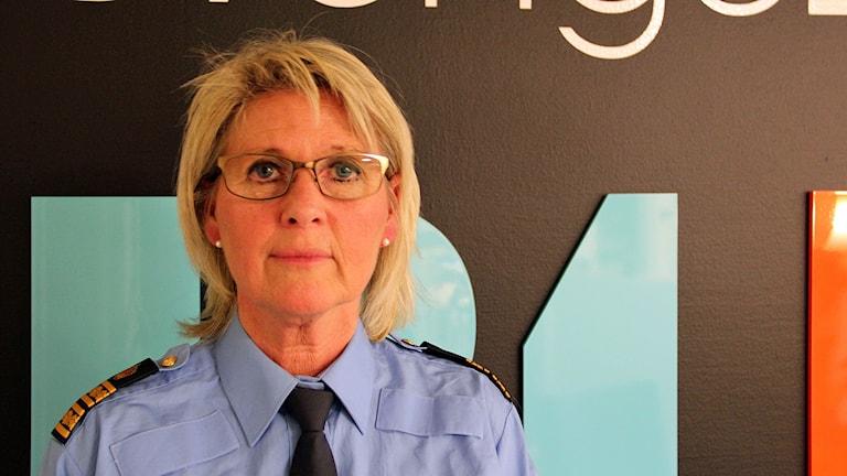 Lisa Ström, områdespolischef i Gävleborg. Foto: Fredrik Björkman/Sveriges Radio.