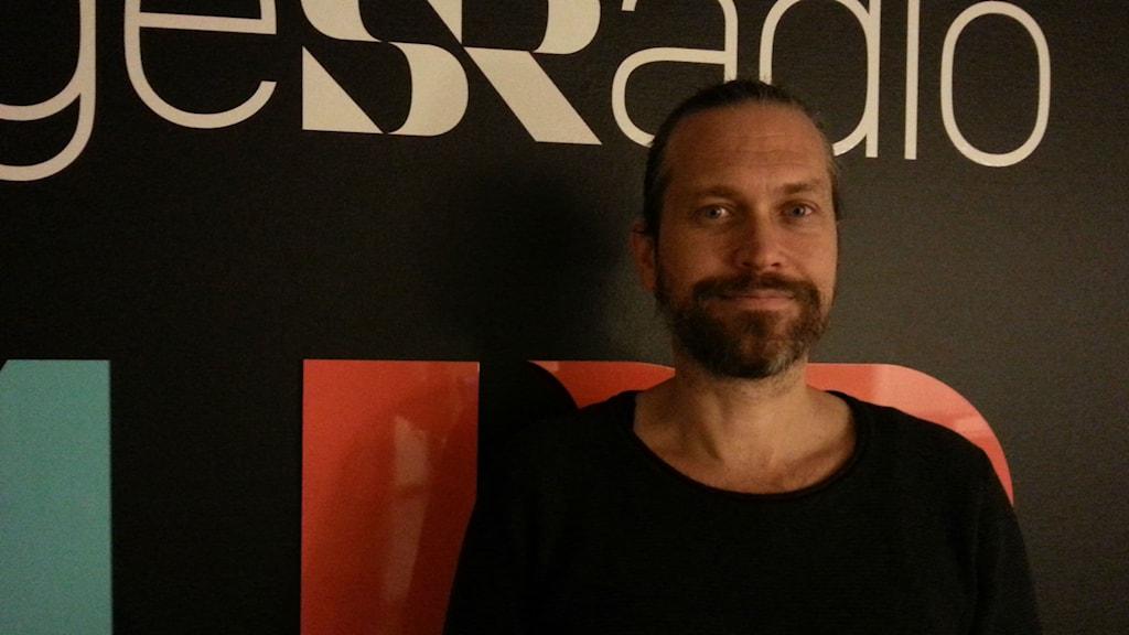Mattias Gopala Hagman, yogalärare vid Gävle yogaskola. Foto: Harald Hans-Ers