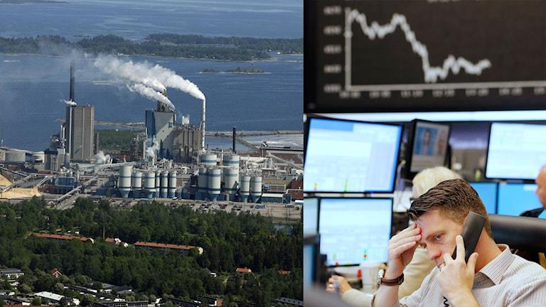 Billerud Korsnäs, med fabrik i Gävle, redovisar i dag en vinst före skatt på 411 miljoner kronor för fjärde kvartalet. Foto: Korsnäs pressbild och Michael Probst / TT