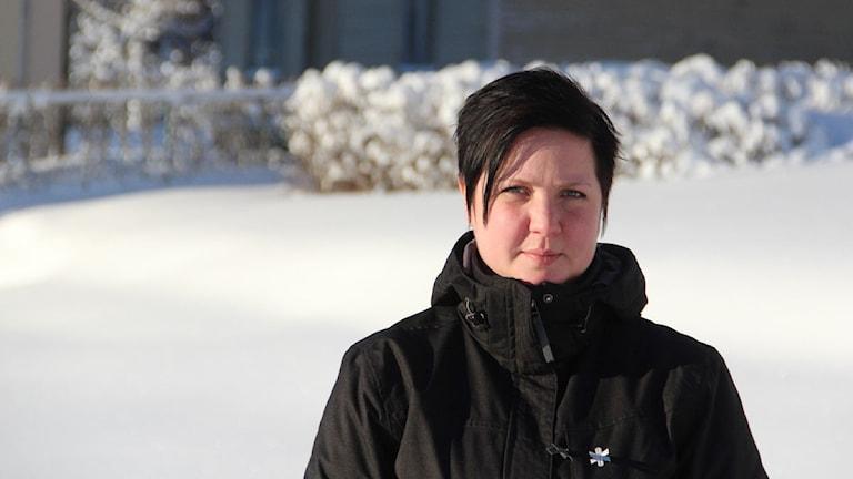 Malin Regnander jobbar inom hemtjänsten i Söderhamns kommun. Foto: Magnus Hansson/Sveriges Radio